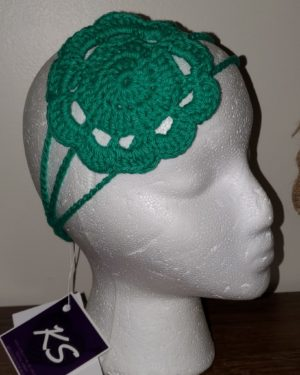Green Flower Head band