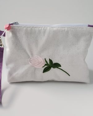 White Rose Hand Bag
