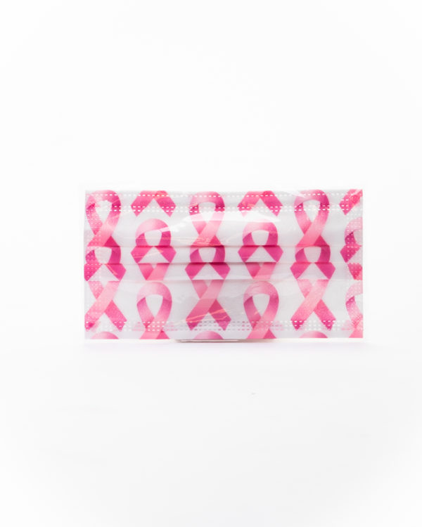 Face Covering Mask With Pink Design